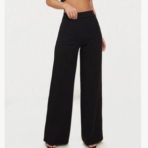 Petite Black Trousers/Wide Leg